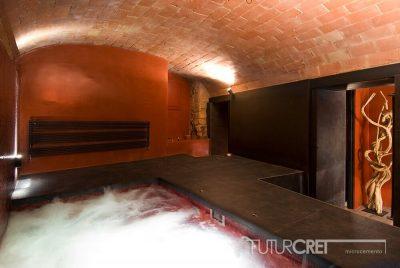 Microcemento piscina y sauna,Girona