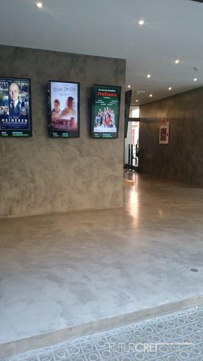 Suelo de microcemento en cine Texas, Barcelona
