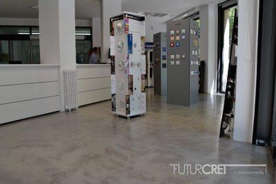 Suelo de microcemento en tienda, Madrid